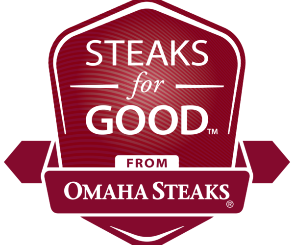Omaha Steaks' steaks for good logo