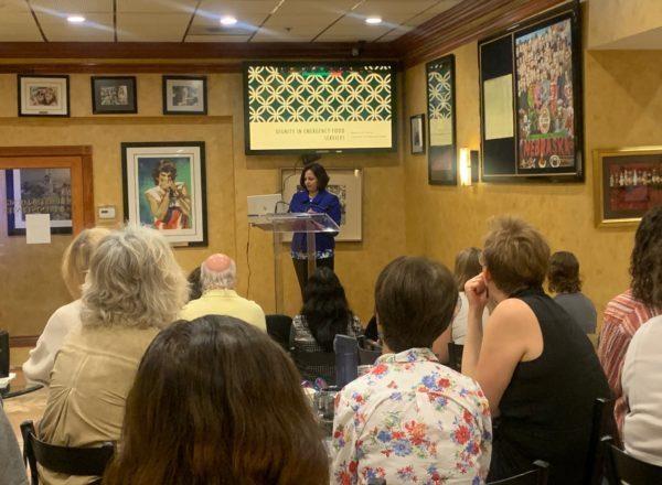 Dr. Rebecca de Souza speaking